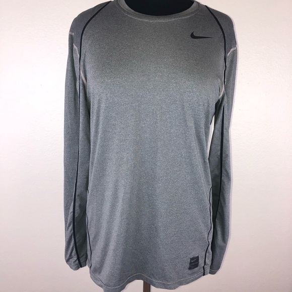 6a64de95b221 Nike Tops - Women s Nike Pro Dri-Fit gray running shirt